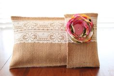 Burlap & Lace Diaper and Wipes Case - Pink and White Interior. $25.00, via Etsy. Diaper Wipe Case, Wipes Case, Burlap Lace, Quilt Stitching, Diy Accessories, Diy Projects To Try, Hush Hush, Little Babies, Reusable Tote Bags