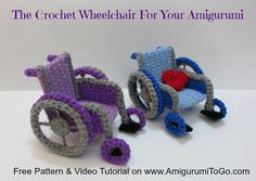 Crochet Wheelchair Pattern Video Tutorial ~ Amigurumi To Go