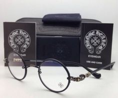 New Chrome Hearts Eyeglasses Wolfy MBK Matte Black Round Metal Frames 42 23 144 | eBay