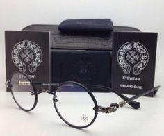 New Chrome Hearts Eyeglasses Wolfy MBK Matte Black Round Metal Frames 42 23 144 | eBay