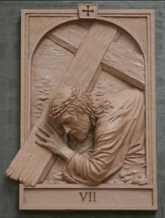 The fourteen stations of The Cross was commisioned by St. Raphael Church in Naperville Illinois Koh-Varilla Guild Jeff Varilla & Anna Koh Varilla