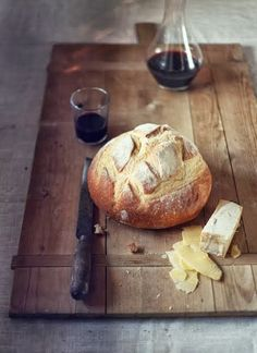 Wine, cheese & bread