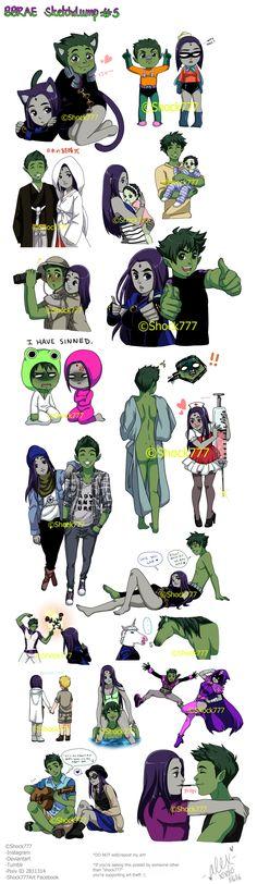 Teen Titans Love, Original Teen Titans, Teen Titans Fanart, Deviant Art, Raven Beast Boy, Comic Art, Comic Books, Bbrae, Nerd