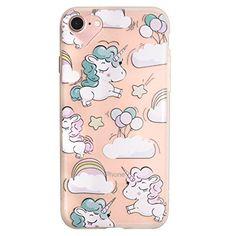 MUTOUREN iPhone SE 5 5S Hülle Schutzhülle Handy TPU Silikon Hülle Ultra dünne Case Cover Durchsichtig Gel Tasche Bumper Schale - Einhorn Baby - Motif 04