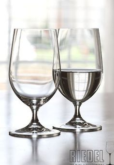 Riedel Ouverture Beer/Icewater Pair . $19.95. Stylish stemmed Pilsner glass, designed to complement all ranges of Riedel glassware, Lead free crystal, machine made. All Riedel glasses are dishwasher safe.
