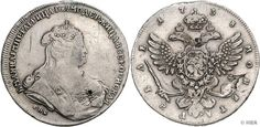 Anna Ivanovna, 1730-1740, Rouble, 1738, St. Petersburg, bust the Czarina clockwise, reverse crowned double eagle, Severin 1282, Dav. 1675.25.49 Gr., handle trace, scratch, nice very nice.    Dealer  HBA    Auction  Minimum Bid:  100.00 EUR