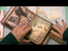 Creating a Mini Album Pt 3 - Inserting the Pages 10- 24 -15 - YouTube
