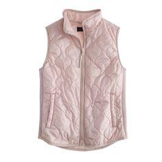 J.Crew women's layering vest with Primaloft in pale petal.