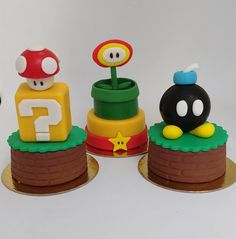 Bolo Do Mario, Mario Cake, Mario Party, Baby Birthday, Birthday Parties, Lucas David, Turtle Painted Rocks, Mario E Luigi, Festa Toy Story