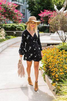 Fall festival fashion, Free People dress, Urban Blonde, fashion blogger, bohemian style