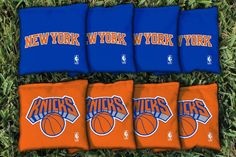 New York Knicks Team Logo Cornhole Bag Set from Team Sports. Click now to shop NBA Tailgate & Backyard Games. Nba New York, New York Knicks, Nba Store, Yard Games, Cornhole, Victorious, Team Logo, Bags, Taschen