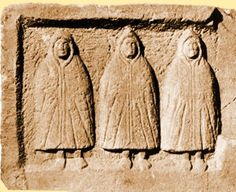 """""""Genii cucullati seem to be the male counterparts to the three-fold Matronae, and all are seemingly related to the cult of the Greco–Roman (but perhaps originally Germanic) deity Telesphorus, also depicted cloaked. Telesphorus was the child of Asklepios, the healer deity, and his powers were in the realms of sleep and dreams; he was also the protector of children and a fertility deity, and may have shared his father's attributes as a healer."""""""