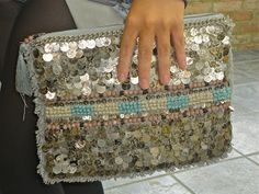 diy embellished boho clutch - Google Search