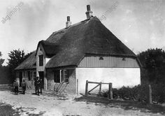 Thatched farm house in Büsum / North Sea, Germany. Photo, c. 1910 (Otto Haeckel).