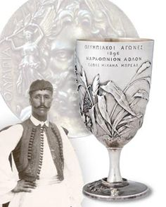 """Spyridon (""""Spyros"""") Louis ( 1873 – was a Greek water-carrier who won the first modern-day Olympic marathon at the 1896 Summer Olympics, thereby becoming a national hero. Olympic Marathon, Olympic Flame, Greek History, Greek Art, Summer Olympics, People Of The World, Athens, Greece, Cyprus"""