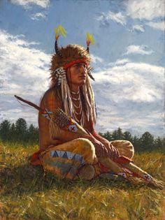 Lakota Sentinel - Lakota warrior - James Ayers