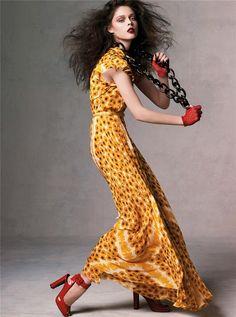 Vogue May 2007 - Hit Girls by Steven Meisel Model: Coco Rocha