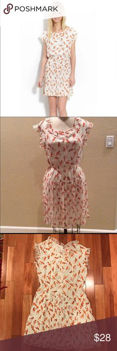 EUC willow & clay bird dress In excellent condition dress by willow & clay. Beautiful bird detail with elastic waist band for some stretch. ModCloth Dresses Midi