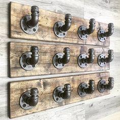 Rustic, industrial, handmade wall hooks, towel hooks, coat hooks, wall mounted coat rack, bathroom rack, wood coat holder, rustic home, gift