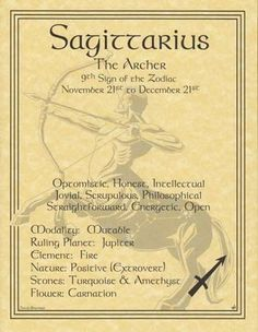 Sagittarius - 9th Sign