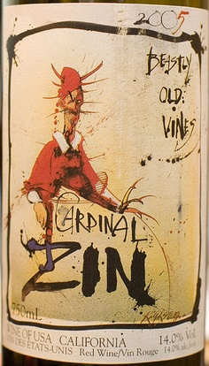 Beastly old wine presents.. Label by Ralph Steadman