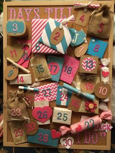 The perfect gift for a bride-to-be; Wedding Advent Calendar More