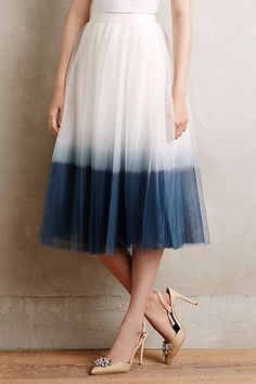 I have been liking a blue and white tie dye look lately and this is feminine so it would work.