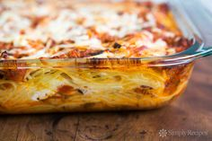 Baked Spaghetti, 395