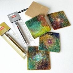 Our MDF Coasters Blanks are Back in Stock! - Shades of Clay Gilding Wax, Line Texture, Marker Pen, Mixed Media Artists, Paint Markers, Metal Clay, Coin Collecting, Antique Copper, Polymer Clay