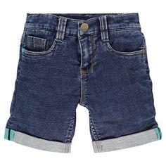Bermuda en molleton effet jeans avec patch cousu au dos  Main