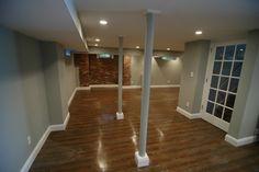 Center Hall Colonial Basement Renovation - contemporary - basement - new york - Wyanoke Builders