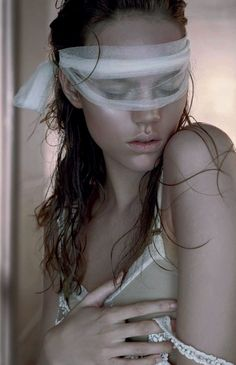 frackoviak:  Couture Stripped | Freja Beha Erichsen by Javier VallhonratBritish Vogue May 2006