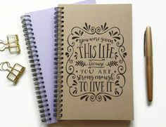 Writing journal spiral notebook bullet by JournalandCompany
