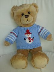 Ravelry: Teddy Bear Christmas Sweaters pattern by linda Mary
