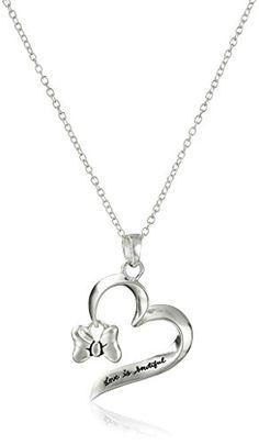 """Disney Sterling Silver """"Love Is Beautiful"""" with Minnie's ... https://www.amazon.com/dp/B00UR78S5K/ref=cm_sw_r_pi_dp_x_Pok7xbG2QBE6W"""