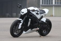 """Suzuki GSX-R 1000 """"White Shorty """" by Bad-Bikes / I don't know how to feel about this bike considering the name..."""