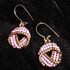 Flat herringbone twisted earrings