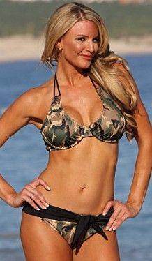 Camo Belted Underwire Bikini