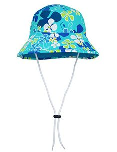 LOSORN ZPY Baby Boy Girl UPF 50 Sun Protection Fish Printed Breathable Bucket Hat