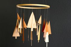 wood veneer mobile by Melanie of you are my fave