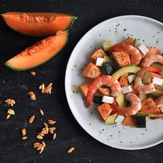 Salade melon, crevettes, avocat, concombre 🍈🥒🍤🥑 © Le Paris de Rim.