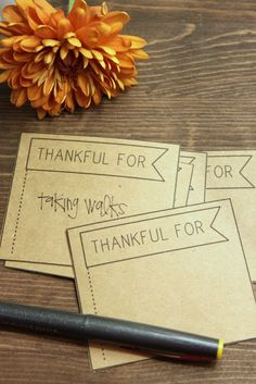 Thanksgiving - Thankful For... ~ These could also be cute as place cards.