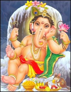 The son of Shiva and Parvati, Shree Ganesh, is the God of Good Luck and Auspiciousness and is the Dispeller of problems and obstacles. He is also worshipped as the God of wisdom, wealth, health, celibacy, fertility and happiness. In the panchayatana puja, Ganesh is glorified as one of the five prime Hindu deities (Brahma, Vishnu, Shiva, Shakti and Ganesha) whose worship confers immortality and liberation.