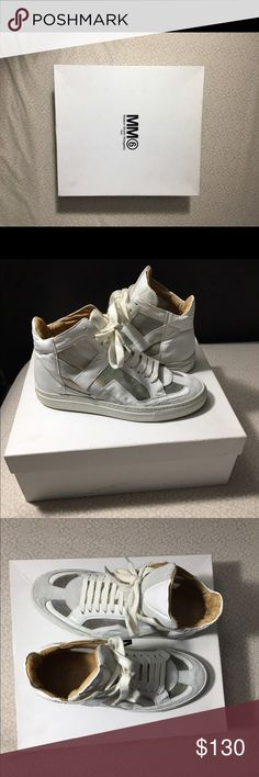 Maison Martin Margiela MM6 Women White High top Sneakers| Size 36 Hardly Worn| Great Condition Maison Martin Margiela Shoes Sneakers