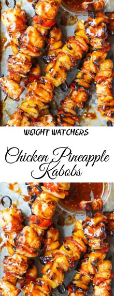 Chicken Pineapple Kabobs Related posts:Mexican Grilled Chicken Cobb SaladTurkish kofta skewers from the grillSummer grilled corn salad Ww Recipes, Chicken Recipes, Cooking Recipes, Healthy Recipes, Pineapple Kabobs, Pineapple Chicken, Weight Watchers Chicken, Weight Watchers Meals, Clean Eating Snacks