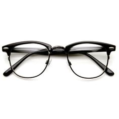 Classic horn rimmed half frame that features clear lenses for a sharp sophisticated look. An iconic frame that will have you looking fashionable in any situation. Frame is made with tortoise shell ace
