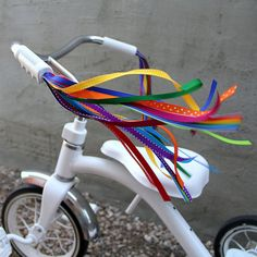 Bicycle Streamers - Retro, Cool & Handmade - Vivid Rainbow, Jewel Tones