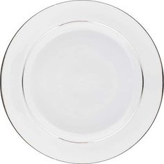 Find this Pin and more on Galvan Dinner. White with double silver band charger plate.  sc 1 st  Pinterest & Lucca Off White Dinner Plate 10.75\