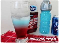 FUN & Easy Patriotic Punch to make with Your Kids!