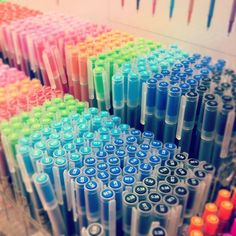 Muji pens color the day... ♥